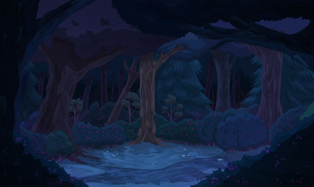 CG_Forest_EXT_Night_Berry_Bushes_Wide_WEB-SAMPLE